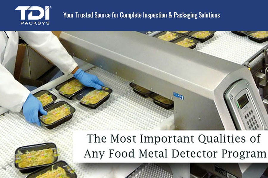 food trays going to a metal detector